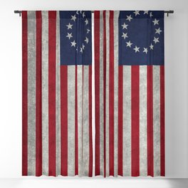 Betsy Ross Flag Blackout Curtain