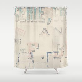 the writing on the wall ... Shower Curtain