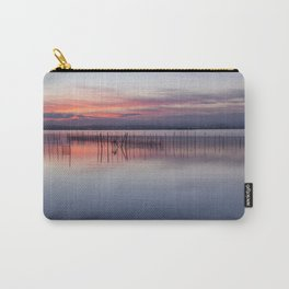 Peaceful view of the Valencia water's surface with the land in the distance Carry-All Pouch