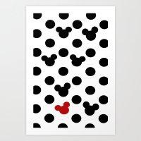Mickey Dot to Dot Art Print
