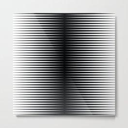 op art - horizontal triangles Metal Print