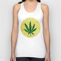 marijuana Tank Tops featuring MARIJUANA by Sha Abdullah