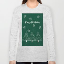 Merry Christmas Green Long Sleeve T-shirt