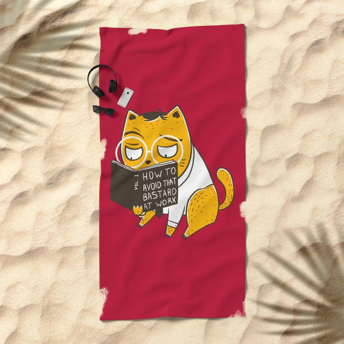 Avoid That Bastard at Work Beach Towel