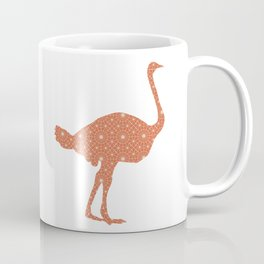 OSTRICH SILHOUETTE WITH PATTERN Coffee Mug
