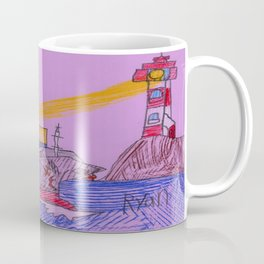 Lighthouse Warning Coffee Mug