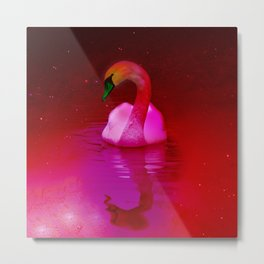 Surreal swan Metal Print