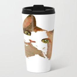 I'm All Ears - Cute Calico Cat Portrait Travel Mug