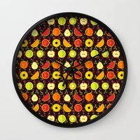 fruit Wall Clocks featuring FRUIT by badOdds