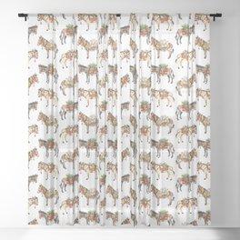Nepal Donkeys Sheer Curtain
