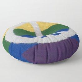 Rainbow Peace Sign Floor Pillow
