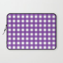 Farmhouse Gingham in Purple Laptop Sleeve