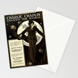 Charlie Chaplin Covers the World Stationery Cards