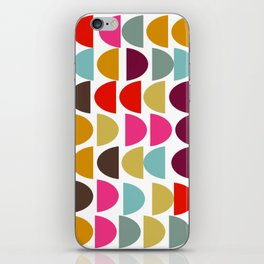 Geometric in Bright Fall Colors iPhone Skin