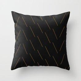 Crunchy Lines, No. 15 Throw Pillow