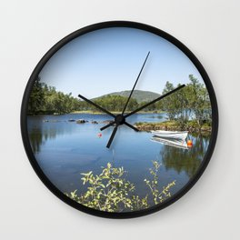 fjord in norway Wall Clock