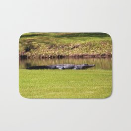 Alligator On Alert Bath Mat