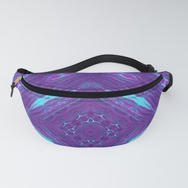 Pink, Purple, and Blue Square Fanny Pack
