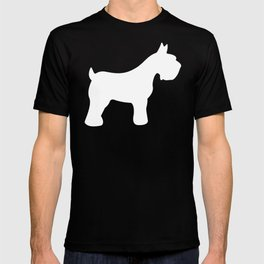 White Schnauzers - Simple Dog Silhouettes Pattern T-shirt