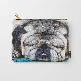 Tuckered Out Pug Carry-All Pouch