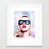 iggy azalea Framed Art Prints featuring Iggy Azalea- Pink/Purple by Tiffany Taimoorazy