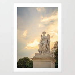 Statue at the Louvre Art Print