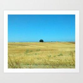 Lonely bush Art Print