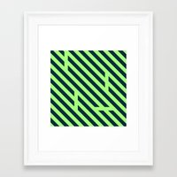 code Framed Art Prints featuring Code by Angus Geidesz