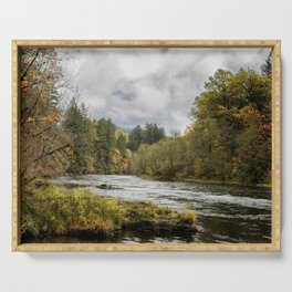 Fall on the McKenzie River Serving Tray