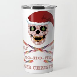 Holly Jolly Roger Xmas Travel Mug
