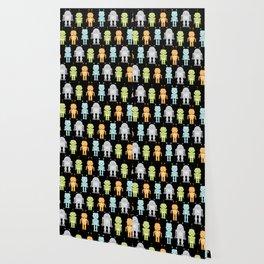 Robots - Black Wallpaper
