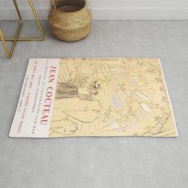 Jean Cocteau, Exhibition Poster, Vintage Rug