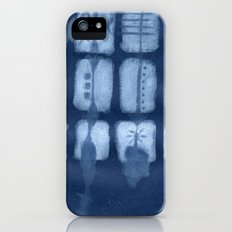 Tribal Etchings in Blue Slim Case iPhone SE