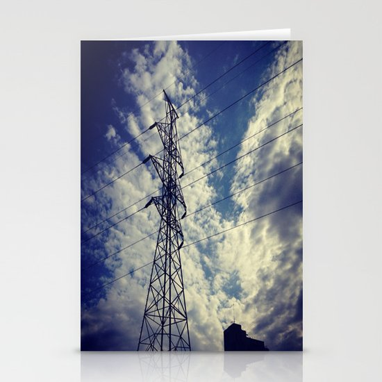 Heavenly spring sky in an industrial world Stationery Cards
