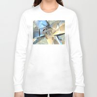 bands Long Sleeve T-shirts featuring Blue And Beige Bands by Phil Perkins