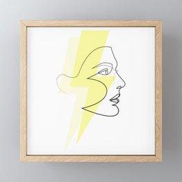 Decade Dance - one line energy Framed Mini Art Print