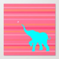baby elephant Canvas Prints featuring Baby Elephant by StudioBlueRoom
