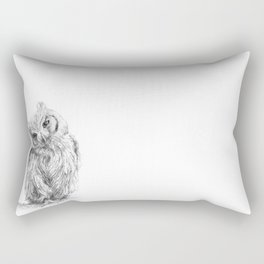 The Northern White-faced Owl  Rectangular Pillow
