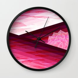 Serene Contemporary Flower Design Wall Clock