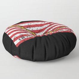 Vintage Distressed Don't Tread On Me Flag Floor Pillow