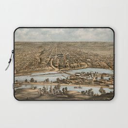 Vintage Pictorial Map of Appleton WI (1874) Laptop Sleeve