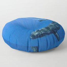Underwater Humpbacks 14 Floor Pillow