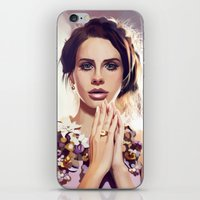 lana iPhone & iPod Skins featuring Lana by MartaDeWinter