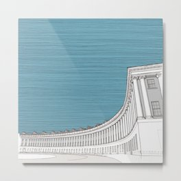Royal Crescent in Royal Blue.  Bath. Illustration. Pitch26 Metal Print