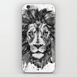 Black and White Lion Head iPhone Skin
