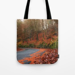 The Orange Forest Tote Bag