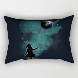 The Girl That Holds The World Rectangular Pillow