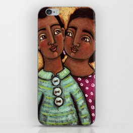 Sara and Raj iPhone Skin