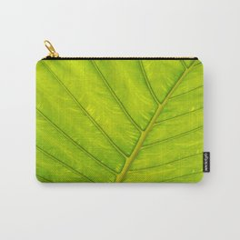 Tropical Leaf Vein Abstract Carry-All Pouch