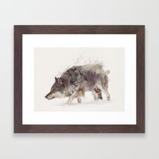 The Wolf III Framed Art Print